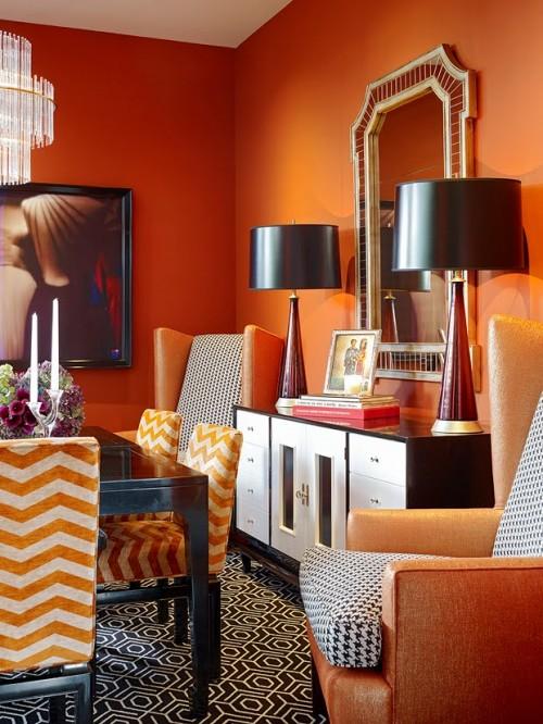25 orange room design ideas shelterness - Orange and black room decor ...