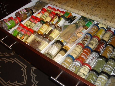 Organizing Spices In A Drawer