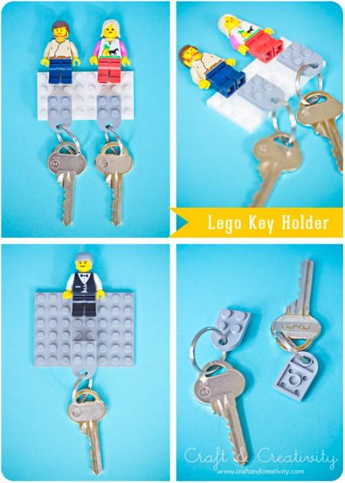 LEGO key holder (via craftandcreativity)