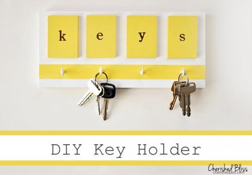 simple bright key holder (via cherishedbliss)
