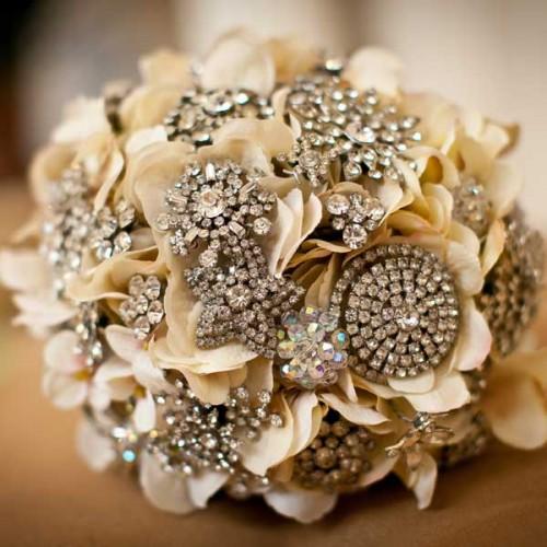 Original DIY Brooch Bouquet Of Artificial Flowers