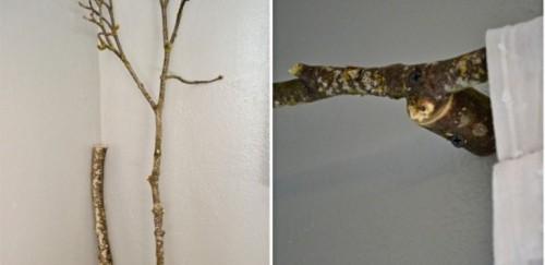 Originais Rods cortina de galhos de árvores