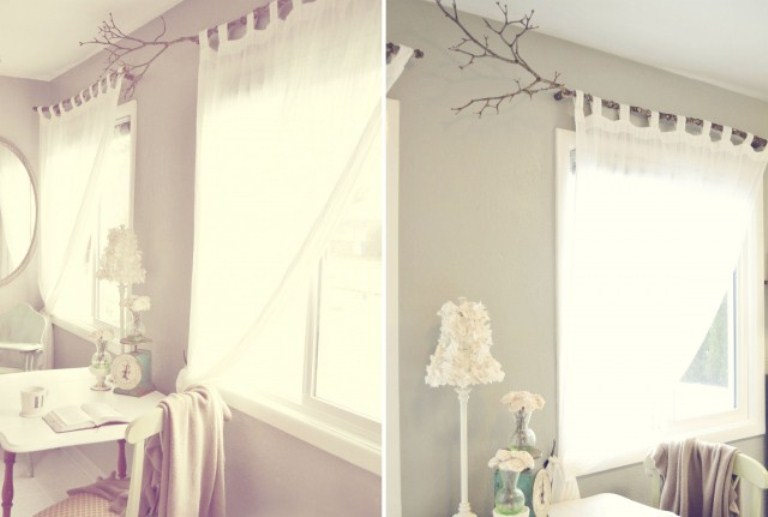 Original Curtain Rods Of Tree Branches