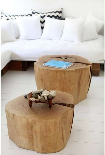 Simple Original Decor Of Tree Stumps