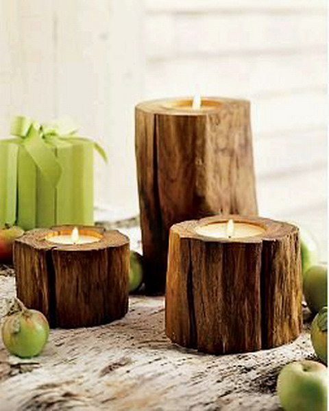 Original Decor Of Tree Stumps