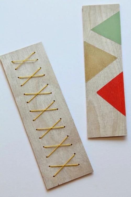 wooden bookmarks (via make-haus)