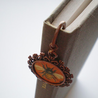 fancy painted bookmark
