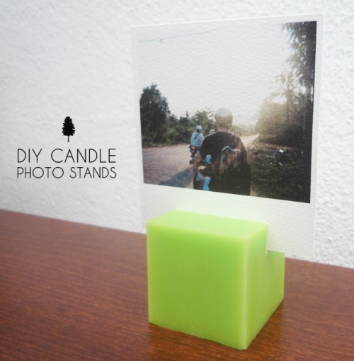 Original DIY Candle Photo Stands | Shelterness