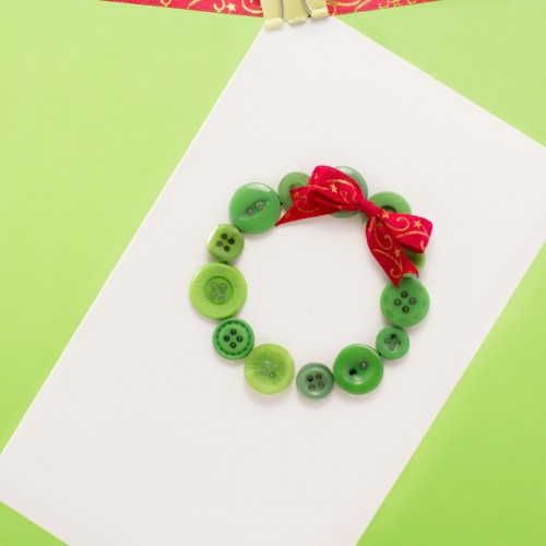 button wreath card (via hopefulhoney)