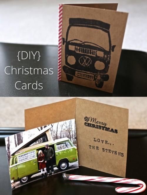 personalized Christmas cards (via gimmesomestyleblog)