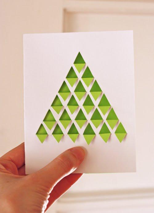 geometric fir tree card