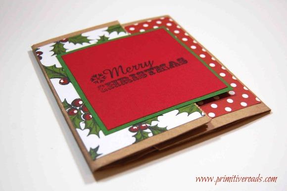 paper bag Christmas card