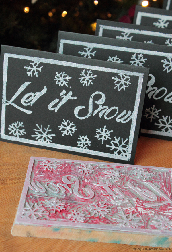 Picture Of Linocut Christmas Card