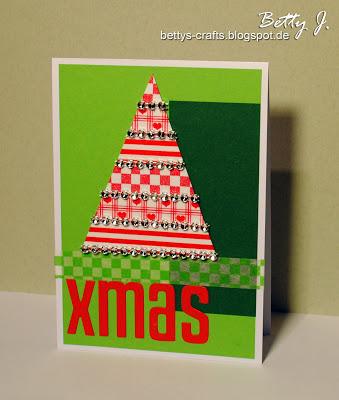 Christmas tree with jingle bells card