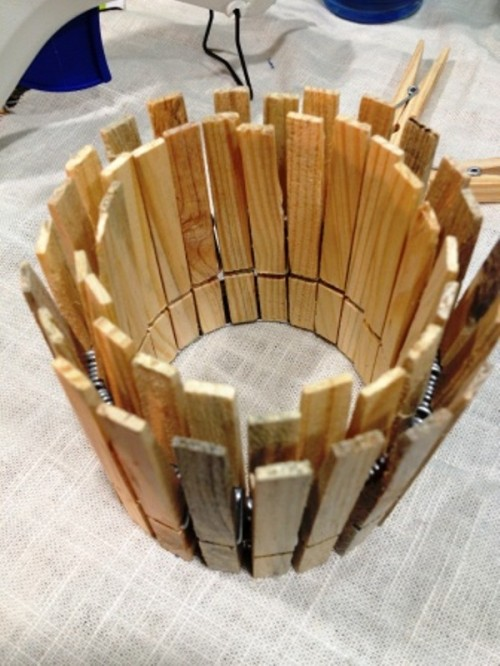 Original DIY Clothespin Candle Holder