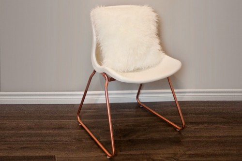 IKEA copper chair upgrade (via thediydiary)