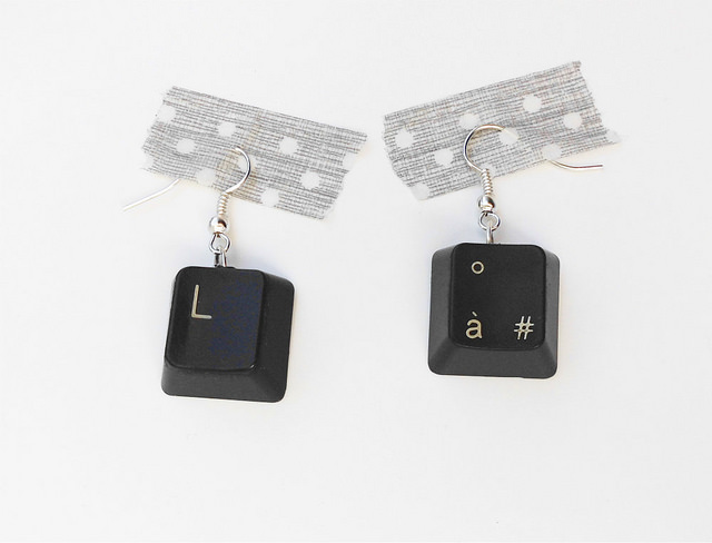 Original DIY Earrings From Computer Keys