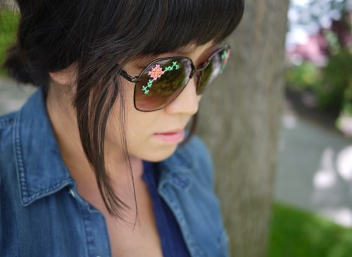 Original Diy Embroidered Sunglasses