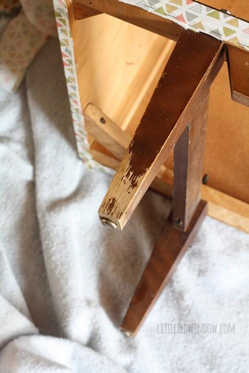 Original DIY Fabric Wrapped Dresser Makeover