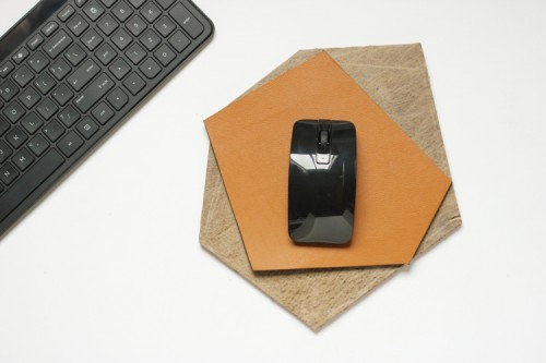 Original DIY Geometric Leather Mouse Pad