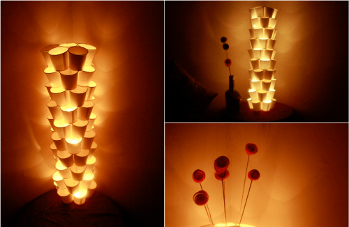 Original Diy Lamp Of Paper Cups