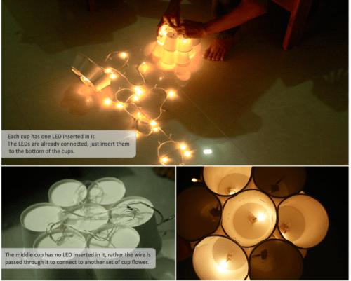 Original Diy Lamp Of Paper Cups