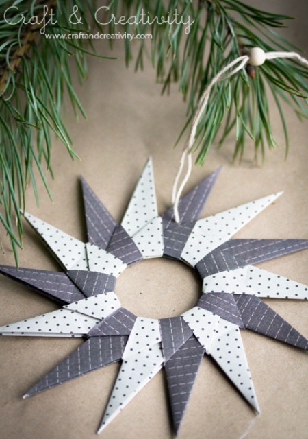 Original Diy Origami Paper Stars For Christmas Decor