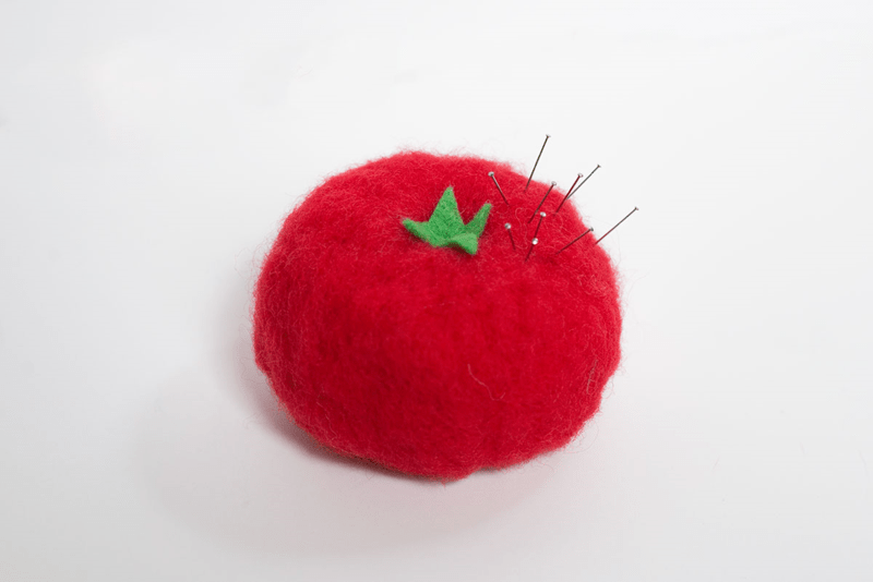 felted tomato pincushion