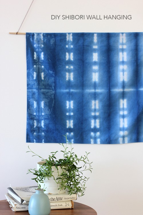 Original DIY Shibori Indigo Wall Hanging