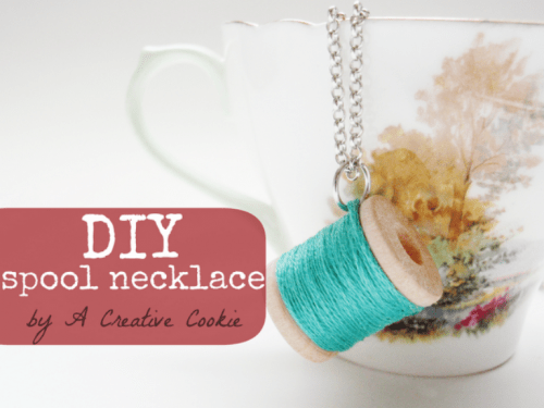 Original Diy Spool Necklace