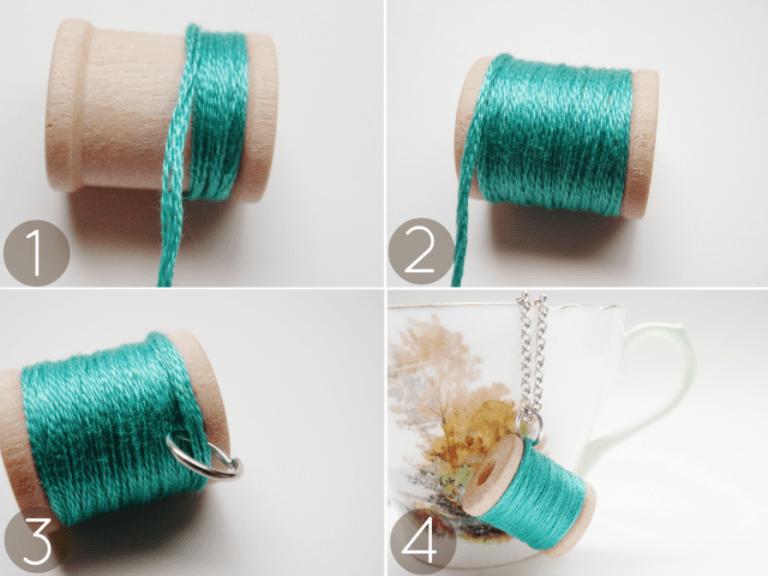 Original Diy Spool Necklace