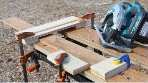 Original DIY Stenciled Pallet Floor For Outdoors