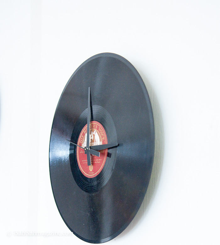 Picture Of original diy wall clock from an old vinyl record  1