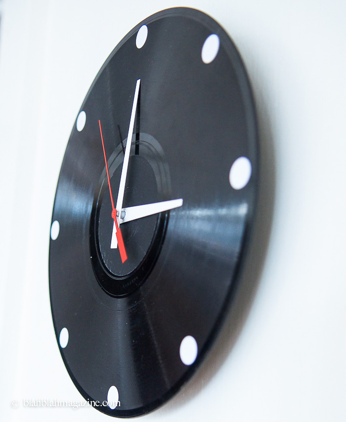 Picture Of original diy wall clock from an old vinyl record  6