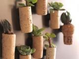 wine cork mini garden