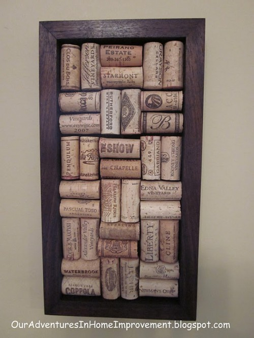 wine cork wall art (via shelterness)