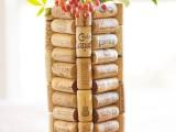 wine cork vase
