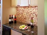 wine cork kitchen backsplash