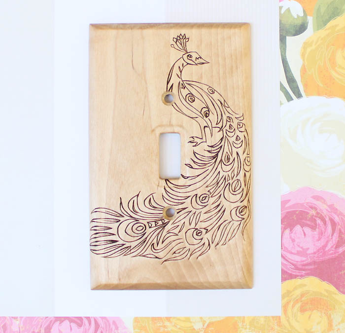 Picture Of original diy wood burned switch plate  1