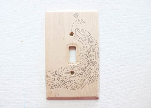 Original DIY Wood Burned Switch Plate