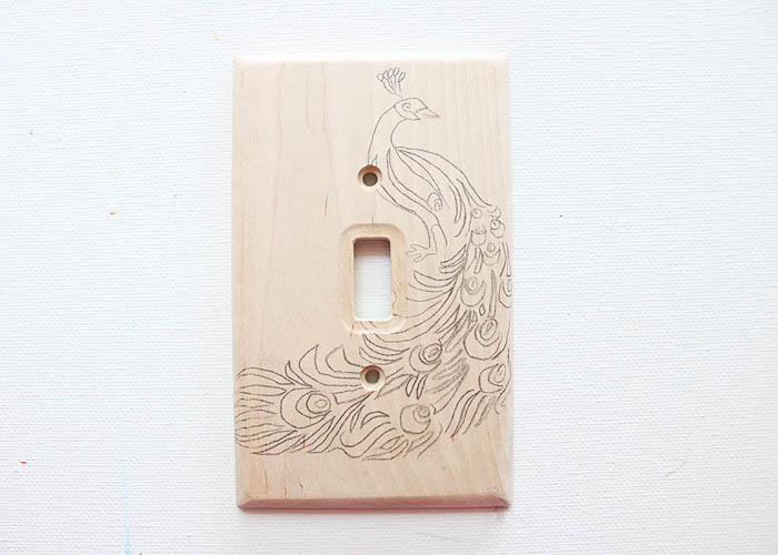Picture Of original diy wood burned switch plate  5