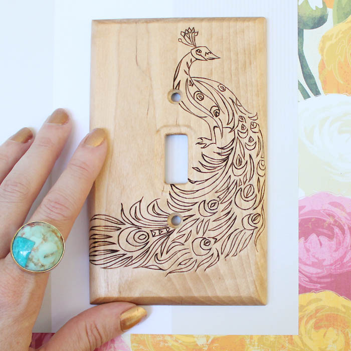 Picture Of original diy wood burned switch plate  7