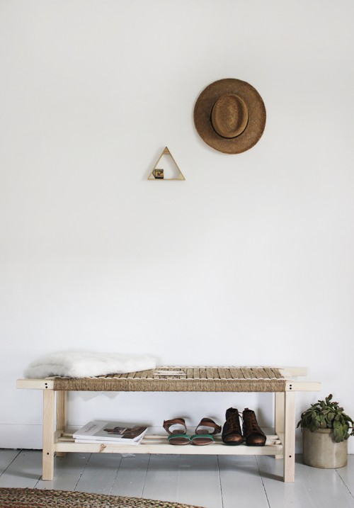 Original DIY Woven Bench Of Jute String