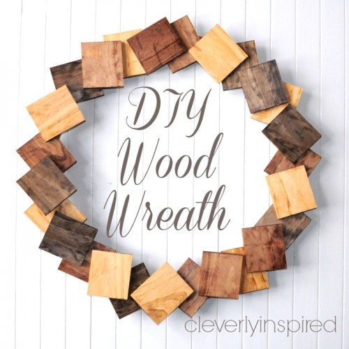 Original Diy Wreath Of Pine Boards