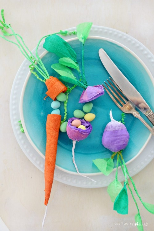 crepe paper vegetable surprise (via craftberrybush)