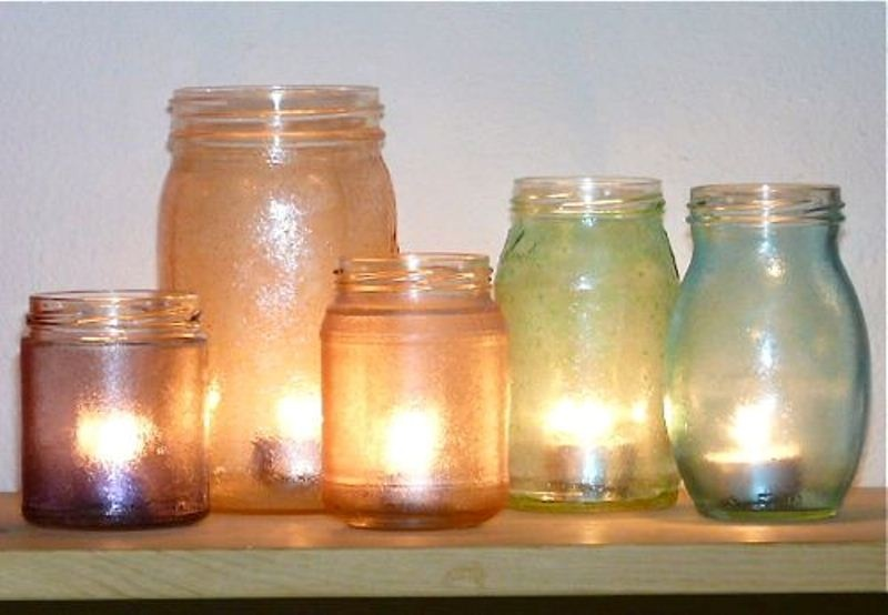 Original DIY Garden Candle Holders Of Vintage Jars | Shelterness