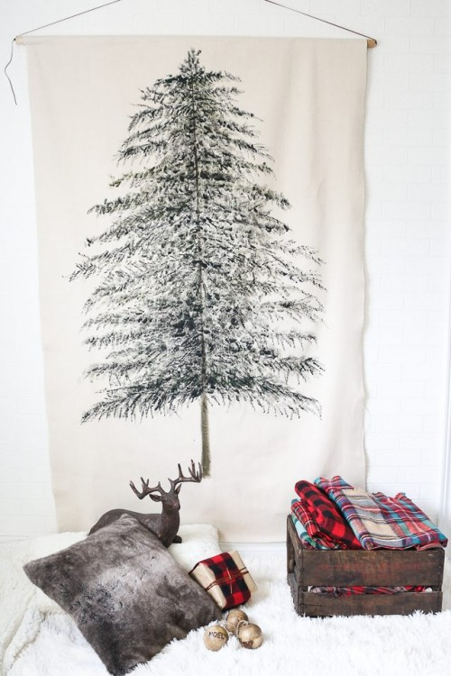 tree wall hanging (via shelterness)
