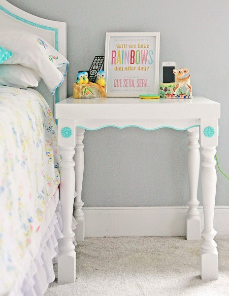 IKEA Lack side table revamp (via mysocalledcraftylife)