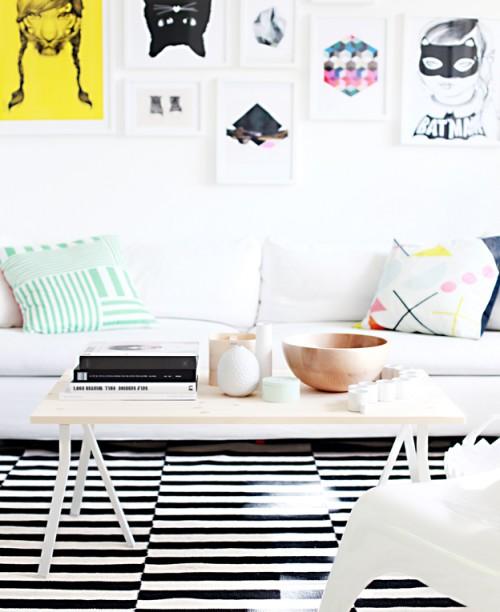IKEA coffee table in Scandi style