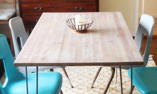 IKEA dining table hack (via acutedesigns)